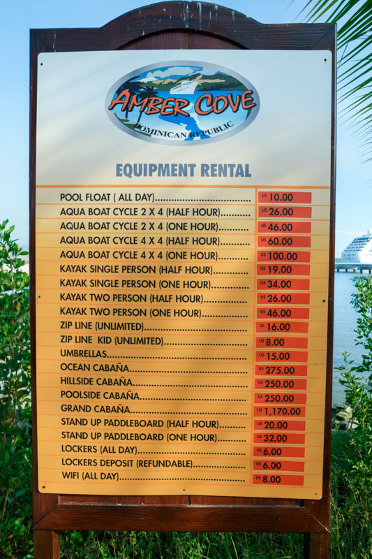 Amber Cove Pricing
