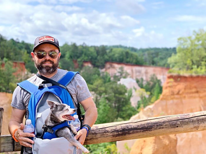 Happy Boomer in Providence Canyon