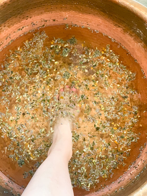 UDander Foot soak - Oklahoma City Girlfriend's Getaway
