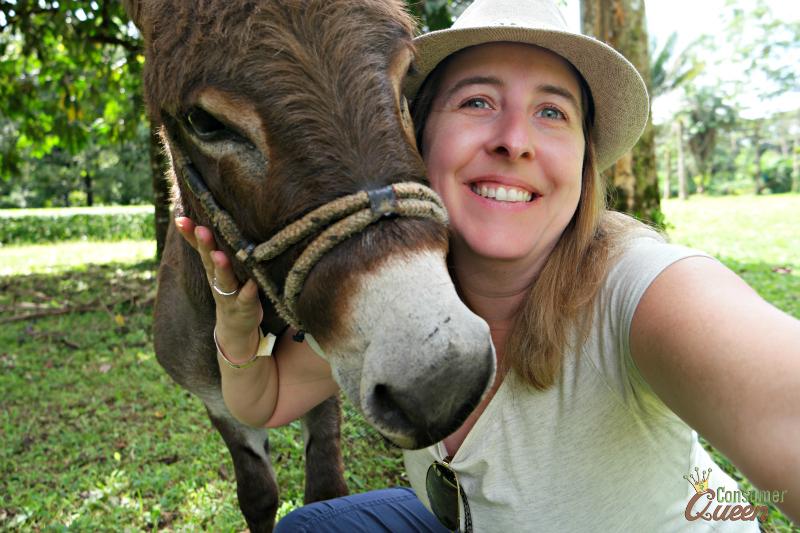 Blue River Donkey Selfie
