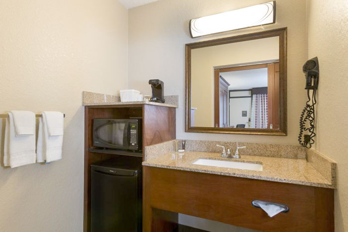 Rosen Inn Pointe Orlando bathrooms