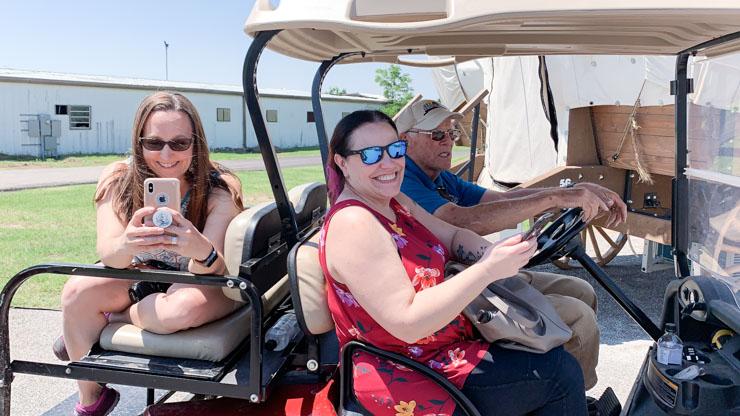 The girls on Golf Carts  -t ravel ok