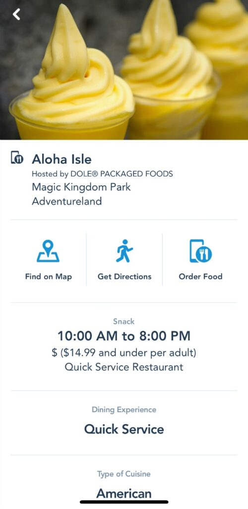 Dole Whip Order
