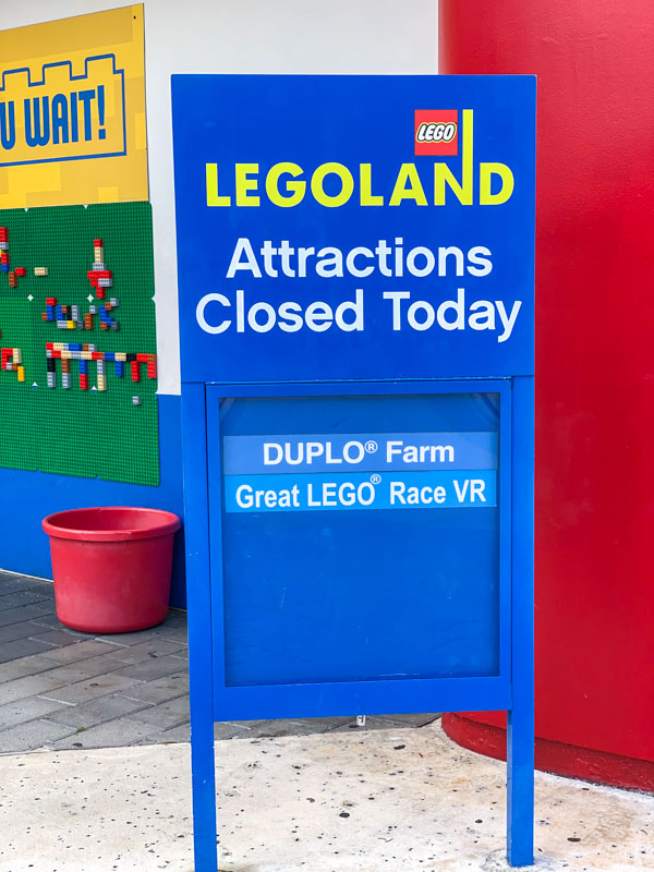 Attractions closed