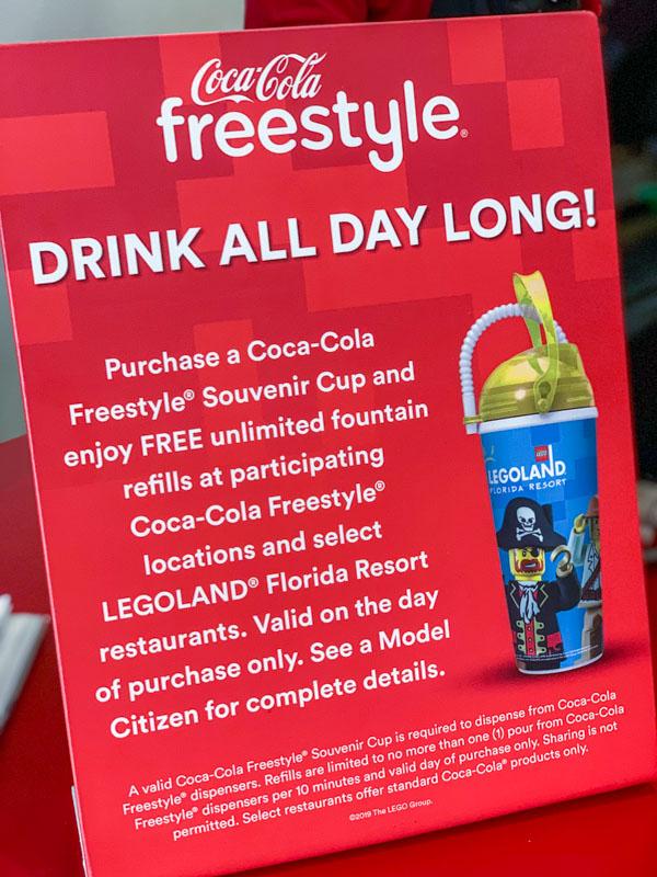 legoland free refills information