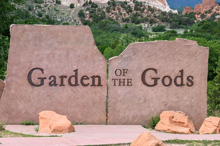Garden of the Gods sign