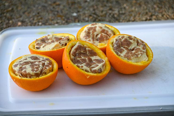 group of cinnamon roll oranges