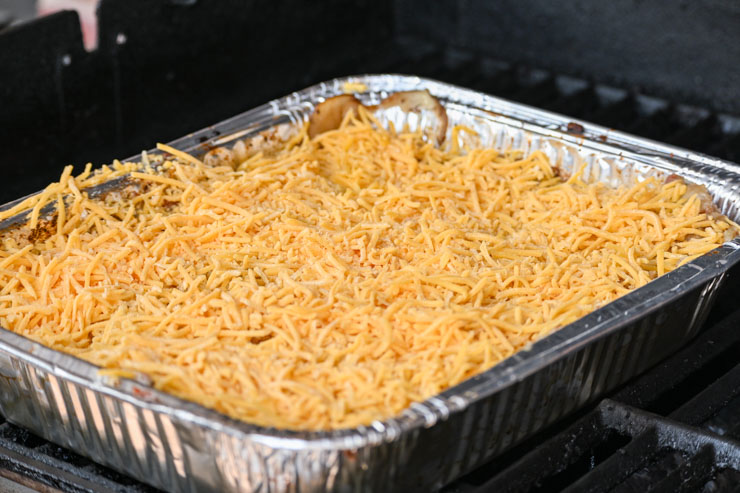 ADD SHREDDED CHEESE