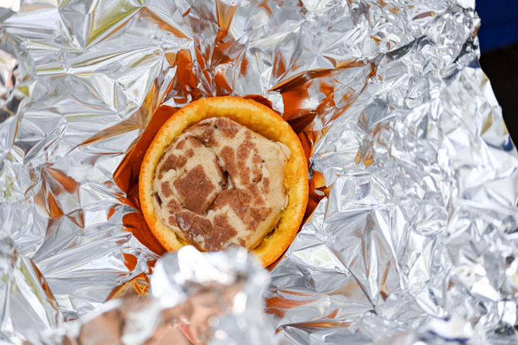 recipe with tinfoil packet