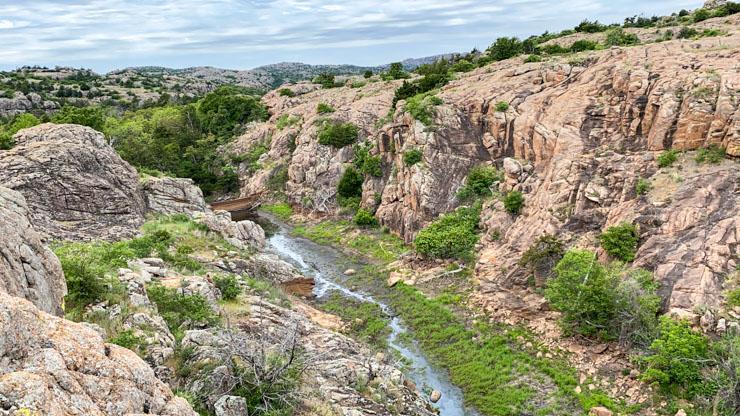 wichita Mountains gully