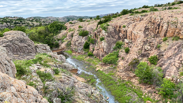 wichita Mountains gully