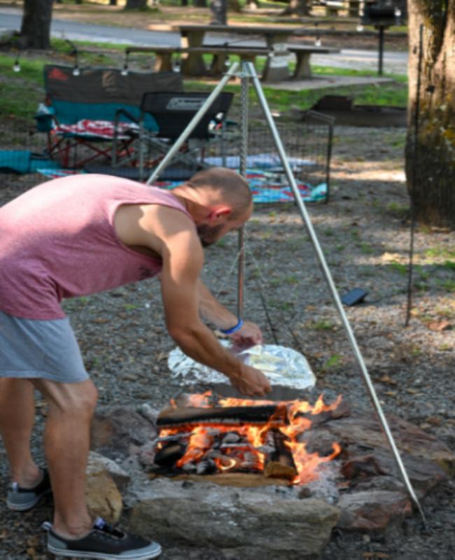 camping tripod - camping supplies