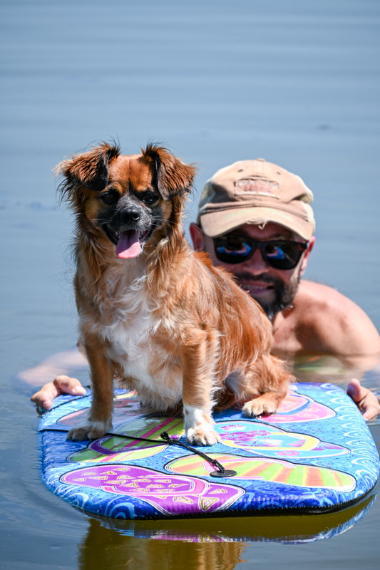 Chloe on boogie board