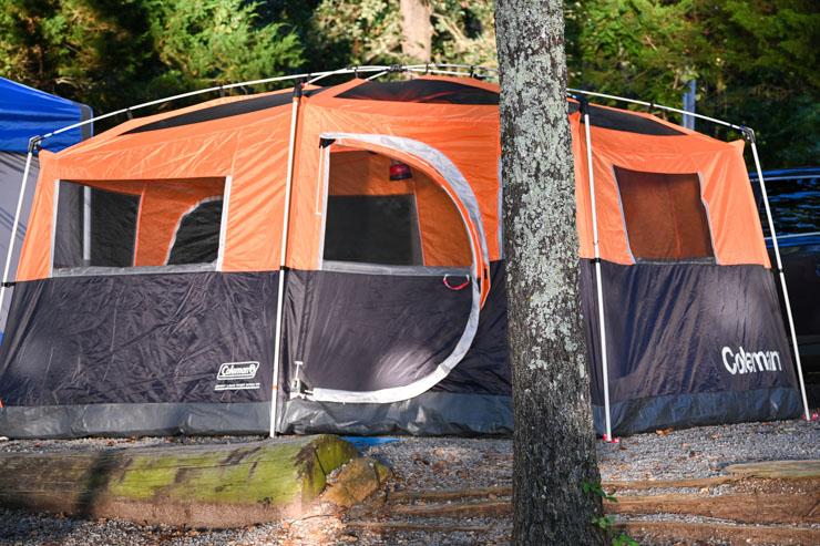 CHOOSING YOUR CAMPSITE: tent