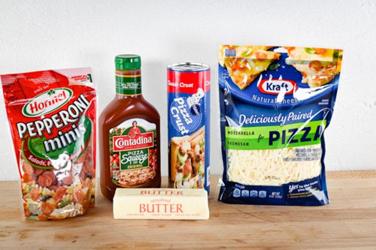 Pie iron pizza ingredients