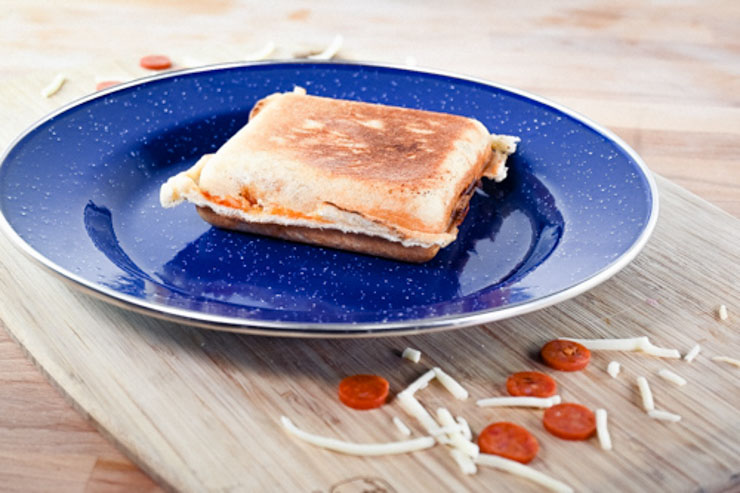 Pie iron pizza pocket