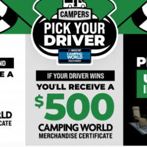 camping world pick your driver