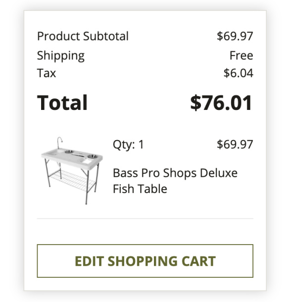 fishing table total