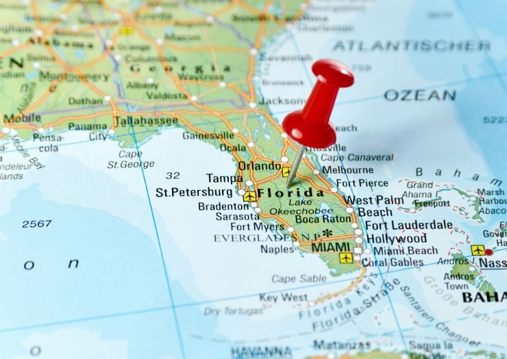 Florida Map -Travel Restrictions to Florida