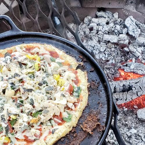 Campfire Cauliflower Pizza Crust Recipe