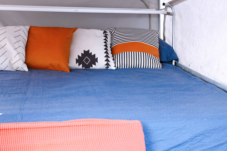 Big Dawg Mattress with pillows - camping list