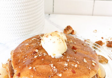 Muffin Mix Pancakes - plated
