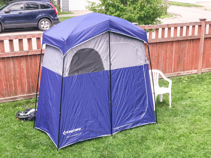 Shower tent - camping list