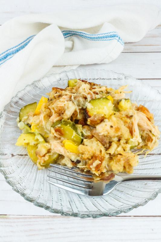 Dutch Oven Chicken Squash Casserole Easy Campfire Recipe
