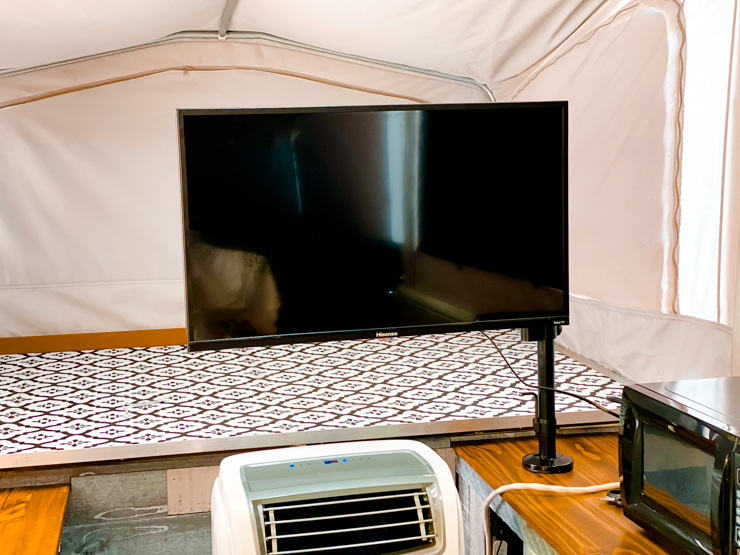 Mounting a TV in a Popup Camper