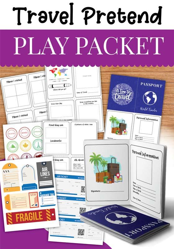 Pretend Play for Kids : Free Printable Travel Set