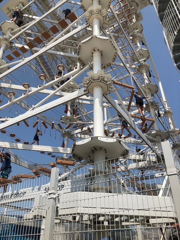 sky trail ropes course at riversport okc