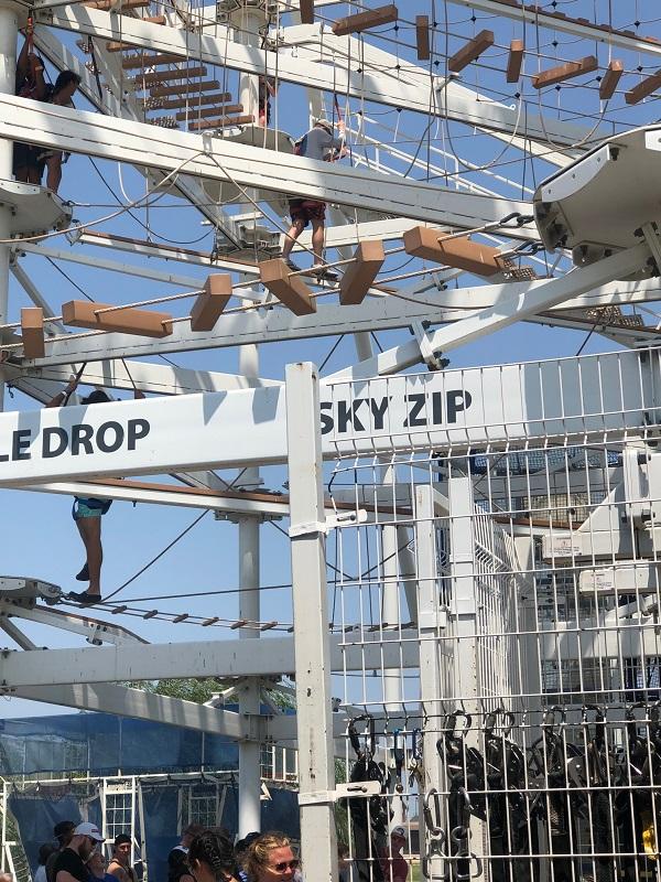 Sky trail and Sky Zip entrance Riversport OKC